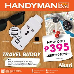 Get This Travel Buddy For Only P395 At Handyman While Stocks Last 89509
