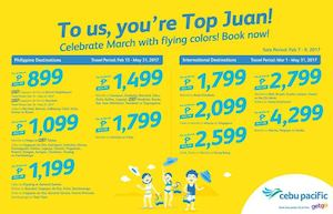 Celebrate March With Flying Colors At With Cebu Pacific Book Until February 9 2017 89513