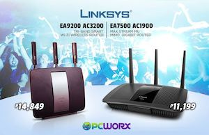 Get The Linksys Ea7500 Or Ea9200 For As Low As P11199 From Pcworx 89514