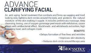 Combat Firm Up Sagging Tired Looking Skin With The Advance Clarifying Facial At Bioessence 89521