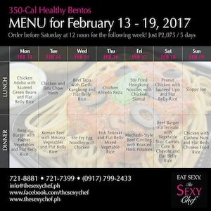 Order Your 350 Cal Healthy Bentos For Next Week From The Sexy Chef Until February 12 2017 89524