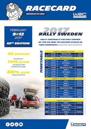 Michelin WRC - Racecard - 2017 WRC Rally Sweden (EN)