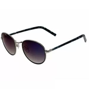 Manhattan Fashion Sunglasses Gold Black Frame Blue Mir Lenses Is Available At Sprinto 89548