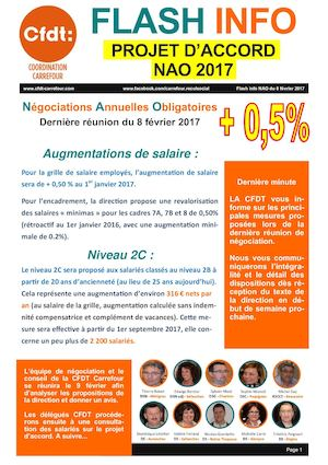 Propositions CARREFOUR Nao 2017