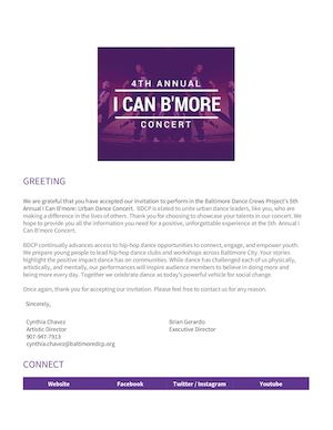 Ican Bmore Cast Welcome Packet2017
