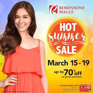 Hot Summer Sale With Up To 70 Off At Participating Robinsons Malls From March 15 19 2017 90111