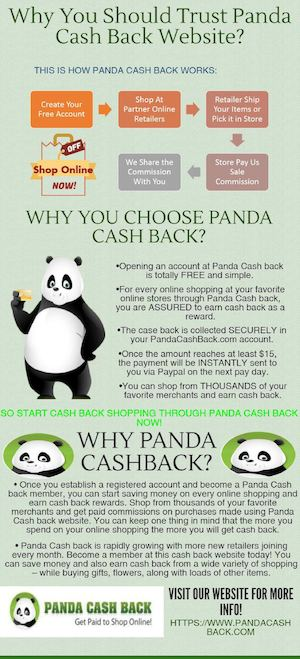 Save Money & Start Earning with Cash Back Shopping through Panda Cashback