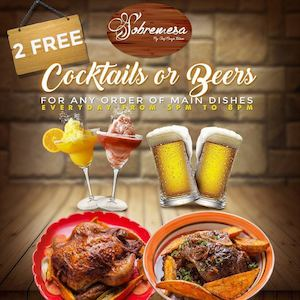 Order The Main Entrees Enjoy Free Drinks At Sobremesa Available Daily From 5pm 8pm 90128
