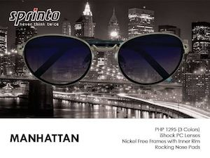 Get The Manhattan Fashion Eyewear With Ishock Pc Lenses For P1295 From Sprinto 90147