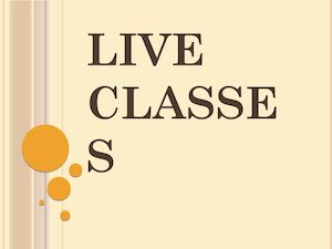Live Classes Ppt