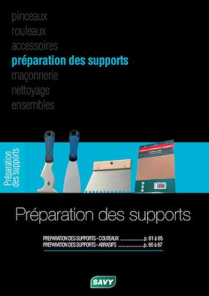 SAVY - Catalogue Préparation Supports 2017