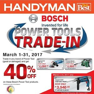 Enjoy 40 Off On These Bosch Power Tool Products At Handyman Valid Until March 31 2017 90150