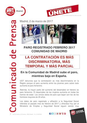 Comunicado Paro Registrado feb 2017