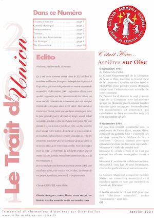 Le Trait d'Union N°22 - Janvier 2001