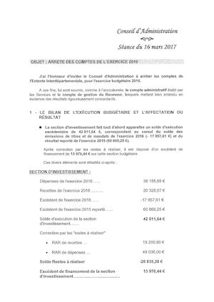 Rapport Conseil d'administration