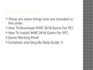 How To Download WWE 2k16 Game For PC