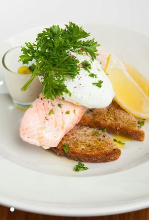 Have A Healthy Breakfast With The Poached Salmon Aioli At Early Bird Breakfast Club90172 90172