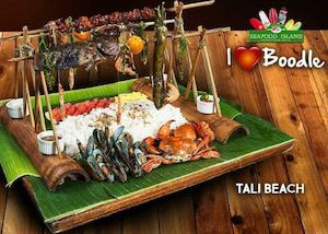 Enjoy Meals With The Super Boodletastic Tali Beach At Seafood Island 90186