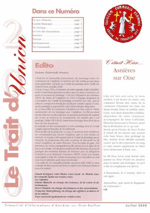 Le Trait D'union N°20 - Octobre 2000