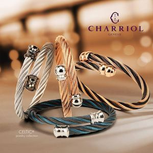 The Celtic Bangles Are Crafted In Monochrome Or Two Tone Shades Available At Charriol 90191