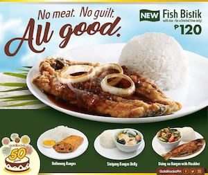 No Meat This Lent Try The New Fish Bistek For Only P120 From Goldilocks 90197