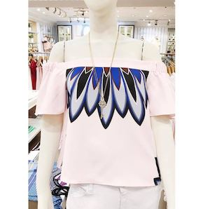 Get This Printed Off Shoulder Blouse The Perfect Addition To Your Summer Wardrobe From Kamiseta 90198