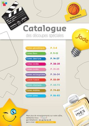 Ubiqus Badges Catalogue Des Decoupes Speciales 2017