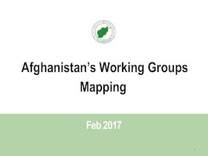 Working Groups in Afghanistan