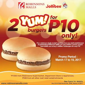 jollibee yum burger ingredients
