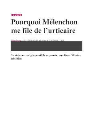 Melenchon Urticaire !!