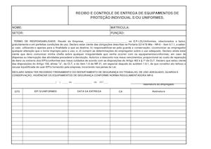 580fa07655399 Calaméo - Modelo De Ficha Para Entrega De EPI S