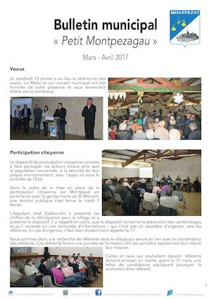 Bulletin municipal et associatif Mars Avril 2017