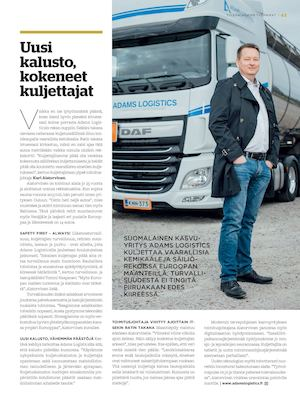 T17 Magazine Adams Logistics