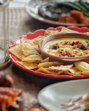 Try The Queso Fundido Served With Homemade Chips At Sobremesa Restaurant 90674