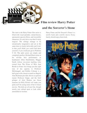Magazine Film Review Harry Potter