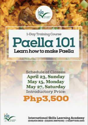 Learn How To Make Paella For Only P3500 At Island Cove On April 23 May 15 May 27 2017 90704