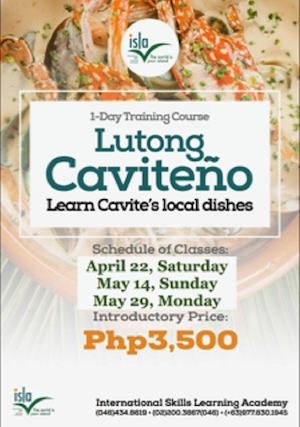 Learn Cavites Local Dishes At Island Cove Hotel Leisure On April 22 May 14 May 29 2017 90706