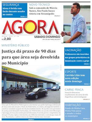 87c1ef584faf5 Calaméo - Jornal Agora - Edição 11705 - 25 e 26 de Março de 2017