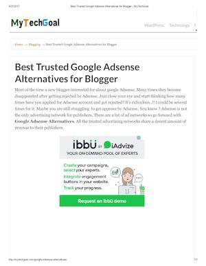 Calaméo Best Trusted Google Adsense Alternatives For Blogger My