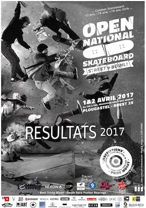 Résultats Open National Skateboard 2017