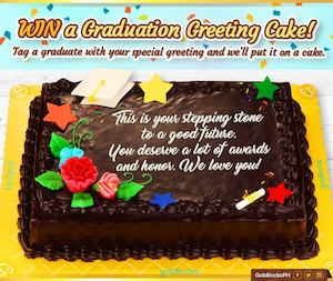 Calamo win a graduation greeting cake from goldilocks for a win a graduation greeting cake from goldilocks for a limited period only 90942 m4hsunfo