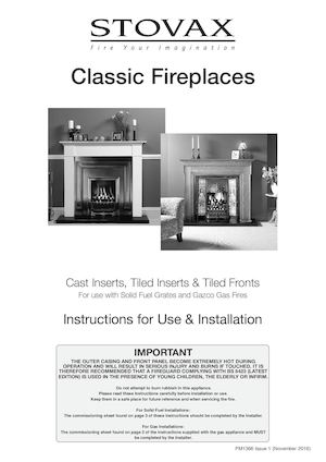 Classic Non Convector & Cast Iron Fronts Installation & User Instructions