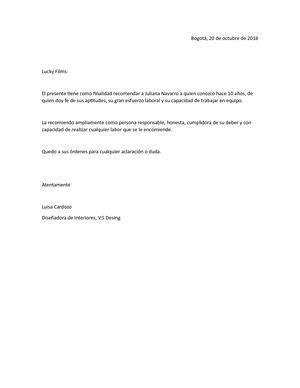 Calaméo Ejemplo Carta De Recomendacion Personal