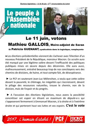 2017 05 Tract Le Peuple à L'assemblée Nationale