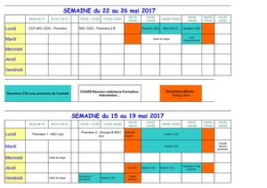 Planning Ouverture Cdi 2016 2017