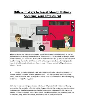 Invest Money Online