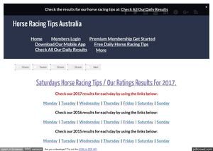 Saturdays May 20th Horse Racing Tips Today's Results