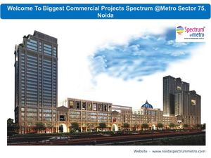 Spectrum @Metro Commercial Projects Sector 75, Noida