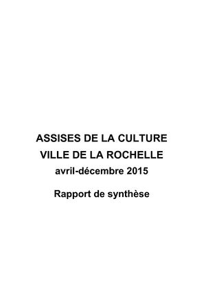 Assises de la Culture - Rapport de synthèse