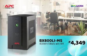 Apc Bx800li Ms 800va415watts With Avr Is Available For Only P4349 From Pcworx 92293